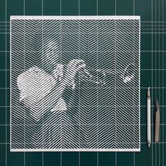 Yoo Hyun - Papercut artwork Jackson Pollock, Design Graphique, Art Graphique, Illustrations, Illustration Art, Laser Cut Panels, Objet D'art, Oeuvre D'art, Paper Cutting
