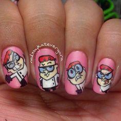 Dexter's Laboratory by  nailsbykatevergara  #nail #nails #nailart