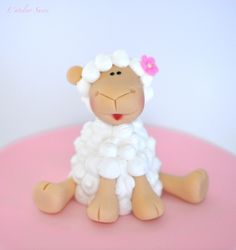 Sheep fondant & royal icin figurine by lateliersucre, via Flickr