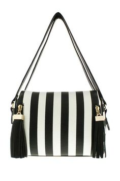 Mandy Striped Cubed Handbag by Melie Bianco on @HauteLook