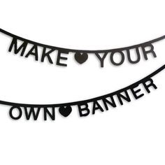 make your own phrase garland 127 pcs black by little baby company | notonthehighstreet.com