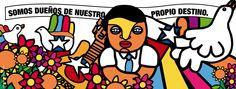Llego un Septiembre que completan 40años de una parte de la historia chilena que no podemos olvidar, para nunca volver a repetirla. ilustracion hecha con las tipografia creada por el diseñador chileno Rodrigo Araya Salas, que recuerda el estilo gráfico de la Brigada Ramona Parra. Teaching Spanish, Cubism, Disney Characters, Fictional Characters, Street Art, Collage, Ganesha, Illustration, Ideas