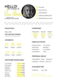 My Curriculum Vitae Web Design, Graphic Design Resume, Resume Design Template, Logo Design, Cv Template, Portfolio Resume, Portfolio Design, Design Curriculum, Kreative Jobs