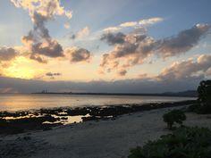 シエスタビーチの夕日。12月です^_^