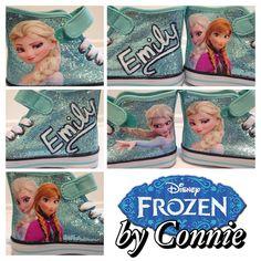 FROZEN- Elsa Sparkle Sneakers on Etsy, $50.00