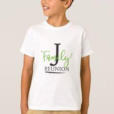 "#customize - #""J"" Family Reunion Kid's ""T-Shirt T-Shirt"