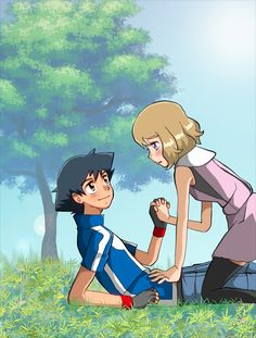 Pokemon Ash And Serena, Family Guy, Guys, Fictional Characters, Art, Pokemon Pictures, Art Background, Kunst, Performing Arts