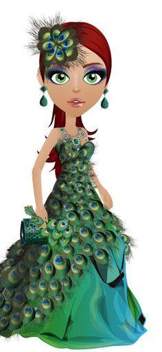 peacock dress,peacock headdress, peacock ring, peacock clutch