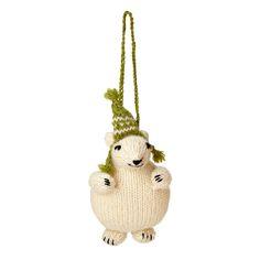 Adorable Polar Bear Ornament $14