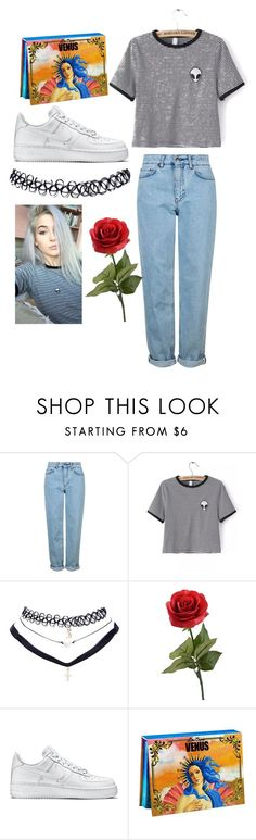 """""""steal her style: sage tullis / gtfosage /okaysage"""" by gtfomaya ❤ liked on Polyvore featuring Topshop, WithChic, Wet Seal, NIKE and Lime Crime"""