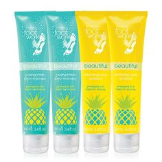 FREE 4-Piece Foot Works Pineapple Chill Collection with your order of $50 or more. USE CODE: CHILL EXPIRES MIDNIGHT ET, 7/18/16. DIRECT DELIVERY ONLY. WHILE SUPPLIES LAST. Avon reserves the right to substitute any free item offered with an item of equal or greater value. Limit one per order. A $24 value this set includes:-2 Foot Works Pineapple Chill Exfoliating Foot Scrub-2 Foot Works Pineapple Chill Body Lotion