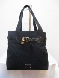 Tommy Hilfiger Black Handbag Purse Authentic Brand New Tags NS Tote 6918257 990 #TommyHilfiger #TotesShoppers