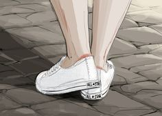One of our favourite AMV BBDO project managers had new Converse (and sore heels) when we saw her last. This little illustration is for you…