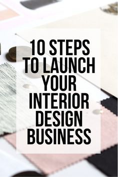 Interior design Tips Office - Starting an interior design business is tough It's a saturated market and it's hard to stand out Here are ten ways that you can launch your business and cut through the rest out there to develop a strong client base! Interior Design Career, Interior Design Companies, Bathroom Interior Design, Modern Interior Design, Interior Design Inspiration, Design Ideas, Interior Designing, How To Become An Interior Designer, Design Trends