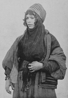 Bedouin woman from Syria, 1893. By Edouard Aldahdah