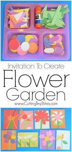 To Create: Flower Garden. Open ended creative spring paper craft for . Invitation To Create: Flower Garden. Open ended creative spring paper craft for ., Invitation To Create: Flower Garden. Open ended creative spring paper craft for . Kindergarten Art, Preschool Classroom, Toddler Preschool, Preschool Activities, Flower Craft Preschool, Spring Craft Preschool, Educational Crafts For Toddlers, Flower Crafts Kids, Nanny Activities