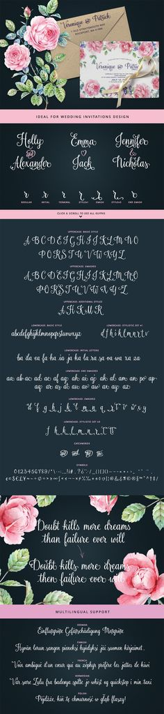 Rosalinda is a new handwritten typeface designed with wedding invitations in mind, but can be used for various purposes like T-shirt design, logos, quotes design etc. The font contains 900+ characters and is best used in an Opentype-aware application such as Adobe Illustrator, Adobe InDesign, MSWord, Adobe Photoshop etc.