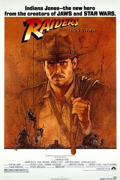 Raiders Of The Lost Ark!  Love this movie... But then again, I love ALL of Harrison Fords movies.. Bahahaha..