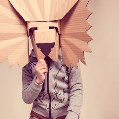 brilliant lion mask from cardboard
