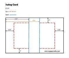 be7f892faf6e How to cut score a swing card Flip Cards