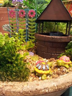 Cute and enchanting fairy gardens!