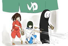 埋め込み Studio Ghibli Art, Studio Ghibli Movies, Studio Ghibli Characters, Chihiro Y Haku, Lovely Complex, Anime Crossover, Howls Moving Castle, Film Studio, Anime Sketch