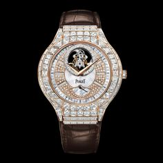 Rose gold Diamond Tourbillon Watch G0A36111 - Piaget Luxury Watch 16cts diamonds