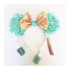 Jasmine Floral inspired mouse ears by LindaKreations on Etsy