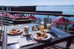 #Breakfast at #Palafitte Hotel in #Neuchatel #Switzerland
