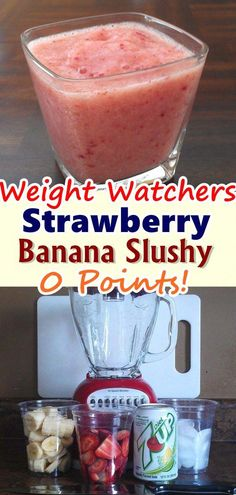 Most current Cost-Free Healthy Strawberry Banana Smoothie Recipes For Wei - Detox Recipes Breakfast Ideas Ideas Strawberry and Blood Strawberry Smoothie Recipes Several common smoothie recipes have a very import Weight Watcher Desserts, Weight Watchers Snacks, Weight Loss Meals, Weight Watchers Smoothies, Weight Watcher Breakfast, Weight Watchers Points, Skinny Recipes, Ww Recipes, Detox Recipes