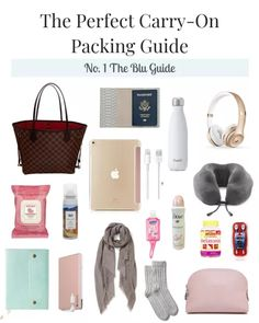 The Perfect Carry On Packing List! The Perfect Carry On Packing List! Travel Packing Checklist, Carry On Packing, Road Trip Packing, Travelling Tips, Europe Packing, Traveling Europe, Backpacking Europe, Travel Backpack Carry On, Packing Tips For Vacation