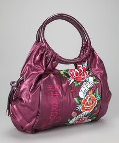 2875dc3d6e67 Take a look at this Purple Jennifer Hobo by Ed Hardy on  zulily today!