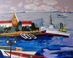 Portul Sozopol,u/p,40/50cm.