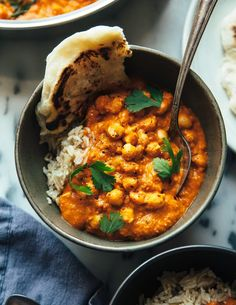 "SPICED VEGAN ""BUTTER"" CHICKPEAS Indian Food Recipes, Gourmet Recipes, Whole Food Recipes, Vegetarian Recipes, Cooking Recipes, Healthy Recipes, Ethnic Recipes, Whole30 Recipes, Dinner Recipes"
