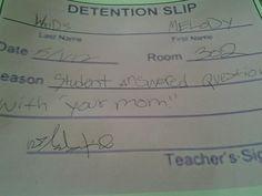12 Hilarious Detention Slips | SMOSH
