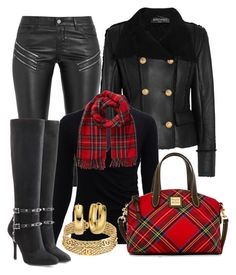 """""""CASUAL"""" by alice-fortuna on Polyvore featuring Yves Saint Laurent, Balmain, Dooney & Bourke, Valentino, Phase Eight and Chanel"""