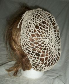 Vintage Style Natural Crochet Snood by FintageCrochet on Etsy, $25.00