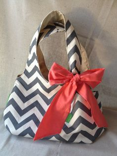 Chevron Hobo Purse by SelbyLaneBoutique, spotted it at breakfast at #Blissdom and love it.