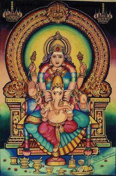 Mother Parvati With Ganesha Saraswati Goddess, Kali Goddess, Divine Goddess, Mother Goddess, Shiva Shakti, Lord Ganesha Paintings, Lord Shiva Painting, Baby Ganesha, Ganesha Pictures