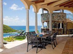Kaleidoscope Villa  - St. John, Virgin Islands with A SUNNING LAWN