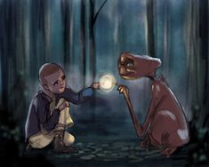 Eleven and ET (Stranger Things and Spielberg)
