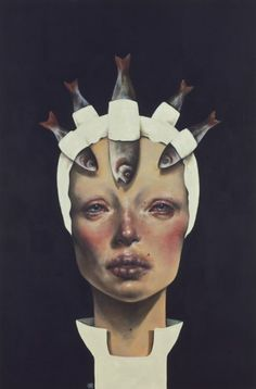 Afarin Sajedi, Like a Queen 100x150 cm oil on canvas