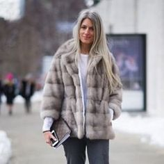 Stay warm during these cold days with @lillyevioletta fur! @sarahharrisuk looks stunning in this beautiful coco jacket.