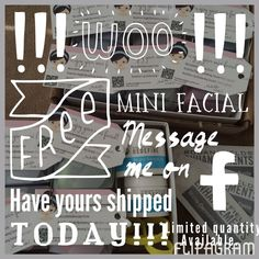 FREEBIE FRIDAY!! Who wants a mini-facial sample kit? I only have a few left! It includes the popular R+F microdermabrasion paste, R+F night renewing serum and R+F lip serum! Please comment here or message me. If you could change one thing about your skin, what would it be?