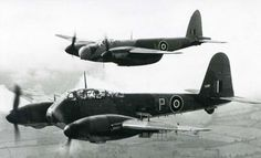 The de Havilland Mosquito and the Messerschmitt Me 410 are similar in this image and their roles were similar.