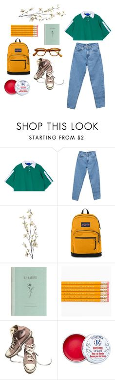 """""""first day of school"""" by fragilestars on Polyvore featuring Pull&Bear, Pier 1 Imports, JanSport, Converse and Smith's"""