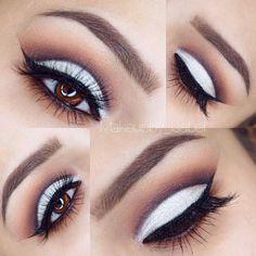 "beautiful & vibrant look from makeupby_isabel anastasiabeverlyhills eyeshadows in caramel , sienna , lbd and vanilla, glowingcreationsmakeup ""vanilla beam "" on top"