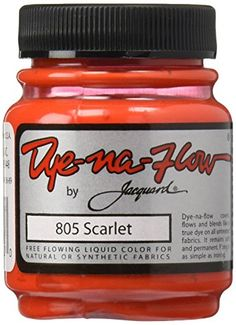 Jacquard Dye-Na-Flow Liquid Color Ounces-Black Jacq. Sponge Painting, Fabric Painting, Undyne Cosplay, Scarlet, Types Of Fibres, Fluid Acrylics, Arts And Crafts Supplies, Saturated Color, Moda Femenina