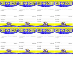 """This * pocket certificate is given to a Cub Scout in recognition of his completion of an """"adventure.""""   There are spaces on the card to enter the Scout's name, adventure completed, pack number, date he earned it, Den Leader and Cubmaster signatures. Use this to recognize the Cub Scouts during your monthly pack meeting.  This prints 8 pocket certificates, per page."""
