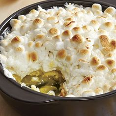 """Lemon """"Meringue"""" Cake - The Pampered Chef® - Great summer dessert made in microwave and served warm!  I double the recipe using 2 yellow cake mixes, 2 eggs, and 16 oz sour cream to make in #3140 Rockcrok Dutch Oven."""